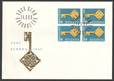 Cover SWITZERLAND First Day 1968 EUROPA CEPT 14/03/68 BLOCK of 4 STAMPS ON COVER