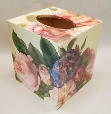 Made To Order, Handmade Wood Decoupage Tissue Box Cover, Fairy Rose