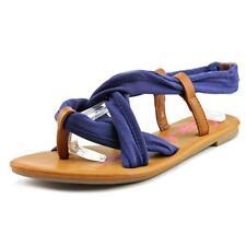 Sandali e scarpe blu tessile gladiatori per il mare da donna