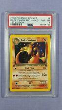2000 Pokemon 1st Edition Team Rocket Dark Charizard #4 Holo PSA 8