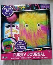 Tara Furry Googly Eyes Journal Diary Book Puffball Pen Stickers