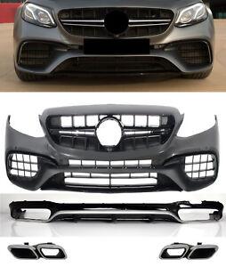 Für Mercedes Benz E-Klasse W213 E63 Amg Look Stoßstange Diffusor Diffuser *01