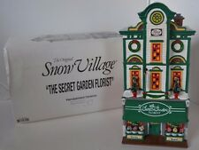 Vintage Dept 56 The Secret Garden Florist Flower Shop Snow Village in box
