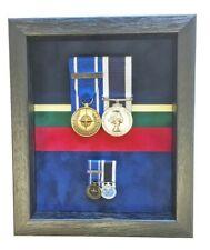 Medium Royal Marines Medal Display Case For 2 Sets. Black Frame