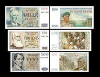 2x 100, 500, 1.000 Francs - Edition 1950 - 1959 - Reproduction - B 07