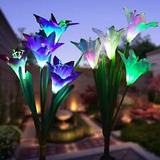 2PCS Solar LED Garden Outdoor Light Lawn Patio Pathway Landscape Decor Yard Lamp