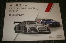 Le Mans-AUDI SPORT cliente RACING 2012 STAMPA MEDIA GUIDE-R8 LMS Ultra