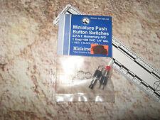 Vintage Model Rail Railroad & Electronics Mini Push Buttons (2) 33-025-02