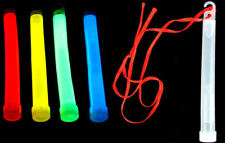 6 Glow Sticks - 15cm WIth Hook & Lanyard - Birthday Party Loot/Party Bag