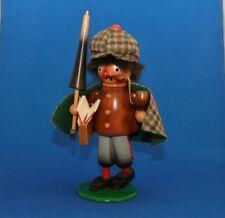German Wood Smoker Incense Burner Sherlock Holmes or Hiker wPipe Never Used