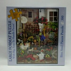 "Bits & Pieces Jigsaw Puzzle 300 Pcs ""The Garden Shed"" Large Pieces 18"" x 24"""