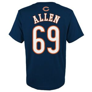 """Jared Allen NFL Chicago Bears """"Mainliner"""" Player Jersey T-Shirt Youth (S-XL)"""