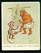 MASONIC CIGARETTE CARD 'OUTSIDE THE DOOR OF THE LODGE' - CARRERAS -GRAN POP 1934