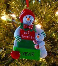 Best Kindergarten School Teacher Personalized Christmas Ornament