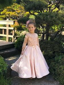 2021 New Flower Girl Dress Prom Princess Pageant Communion Bridesmaid Wedding