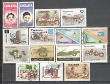 S8839 - TANZANIA 1987 - LOTTO 15 TEMATICI DIFFERENTI - VEDI FOTO