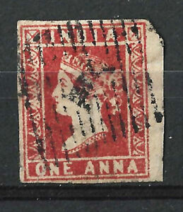 INDIA 1854 1A Deep Red SG13, Used