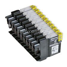 10 BLACK BK für Brother DCP195C MFC5890CN 490CW DCP145C DCP165C LC980 LC1100 XL