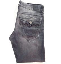 Men's True Religion jeans 34 x 29 Ricky straight leg Chatcoal Black RRP £200