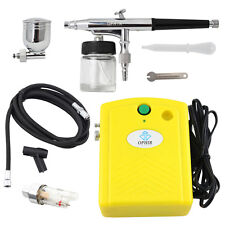 OPHIR Dual-action Airbrush Compressor Kit for Hobby Temporary Tattoo Car Paint