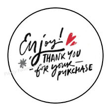 "30 ENJOY! THANK YOU FOR YOUR PURCHASE ENVELOPE SEALS LABELS STICKERS 1.5"" ROUND"