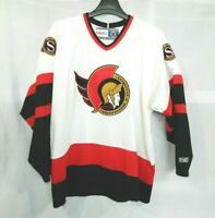 Vintage 90s CCM MASKA NHL Ottawa Senators White Hockey Jersey Mens XL Air-Knit