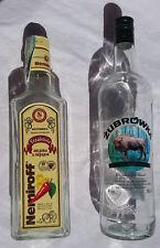 Polish Poland Ukraine Ukranian Vodka Liquor Bottles Zubrowka Bison Nemiroff prop
