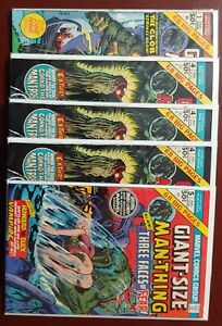 GIANT-SIZE MAN-THING #1, 4 (3x), 5 ( Book Lot)