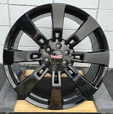 "24"" GMC Denali Wheels Gloss Black Tires Chevy Silverado 1500 Sierra Yukon Yukon"