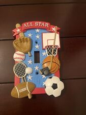 All Star sports themed standard light switch cover