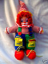 Vintage Learning Clown Toy Doll (15 INCHES)