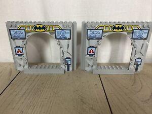 LEGO LOT LIGHT GRAY 2 PCS BATMAN CASTLE ENTRANCE DOORWAY BUILDING PIECES