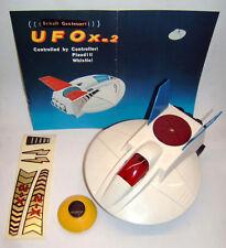 SPACE TOY, UFO x-2, controllato sonora, plastica, funzionamento a batteria, OVP, Taiwan.