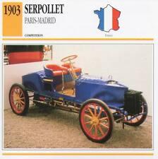1903 SERPOLLET (Paris-Madrid) Racing Classic Car Photo/Info Maxi Card