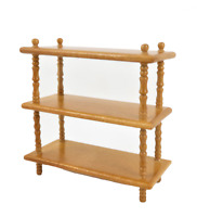 Dolls House Mid Pine Wooden Open Shelf Unit Bookcase Miniature 1:12 Furniture