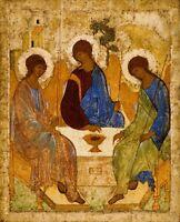 Saint Trinité Troitsa Andrey Rublev Art Photo / Poster Repro Imprimé Many