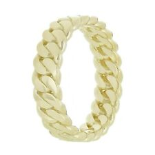 14k Yellow Gold Curb Link Ring Band 5mm Size 6.5 4.8g