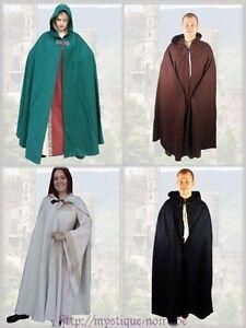 Medieval Wool Cloak Hood Metal Clasp Renaisance SCA Larp Wicca Beltane