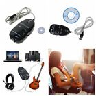 Electric Guitar to USB Interface Link Audio Cable Music Recording Adapter For PC