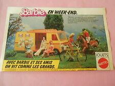 Pub Barbie en week end Jouet Mattel Image Print 1977