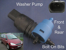 Front & Rear Windscreen Washer Pump Ford Galaxy Facelift 2000 through to 2006