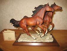 DEAR ITALY *NEW* Posture Couple chevaux en course LxlxH=30x17x28cm