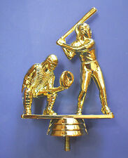 "softball dual batter/catcher 5"" tall lot of 28 trophy parts Jds Fig9502"