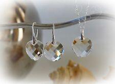 Swarovski Elements Schmuckset Twist Crystal klar Silber 925 NEU!