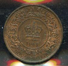 1864 Nova Scotia Half Cent - ICCS MS-62 Red & Brown