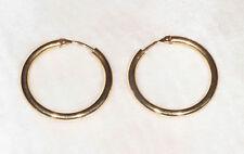 Boucles d'Oreilles Créoles en Or 750 / 18 Ct