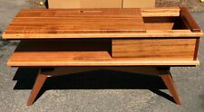 Geek Chic MidCentury Modern Turntable Stand, Credenza Console NEW Sapele Cherry