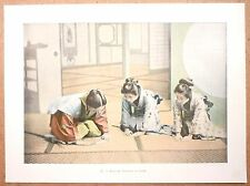 JAPON  Visite de cérémonie - Photochromie fin 19ème  Gravure