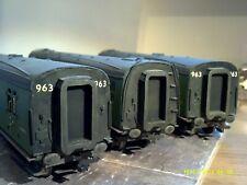 More details for set of 3 craftsman built bulleid 59' corridor coaches br green comet/hornby box
