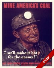 NORMAN ROCKWELL COAL MINER WWII PROPAGANDA POSTER PAINTING REAL CANVAS ART PRINT